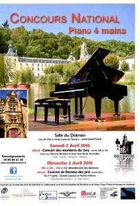 Concours national de Piano 4 mains : la finale est à Brantôme !