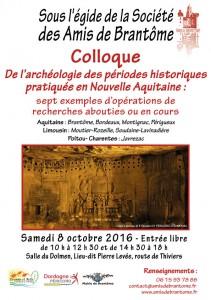 Colloque à Brantôme : Quand Archéologie et Histoire conjuguent leurs talents