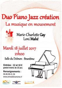 La musique en mouvement : une création à Brantôme.