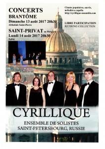 Cyrillique, un ensemble de solistes dans la pure tradition musicale russe.