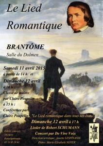 Lied romantique Affiche Brantôme avril 2015 vers 4 copie