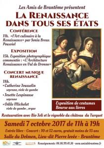 Autour de la Renaissance, journée festive à Brantôme.