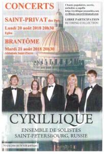 L'Ensemble Cyrillique de Saint Petersbourg revient à Brantôme !